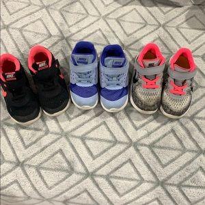 💜💕💙3-pair of Gently used Nike's 💜💕💙